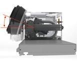 Opti Jet: Högtryckspump för förtvätt med 85 bars tryck och samtidigt låg vattenförbrukning. Utrustad med fällbara yttre högtrycksmunstycken